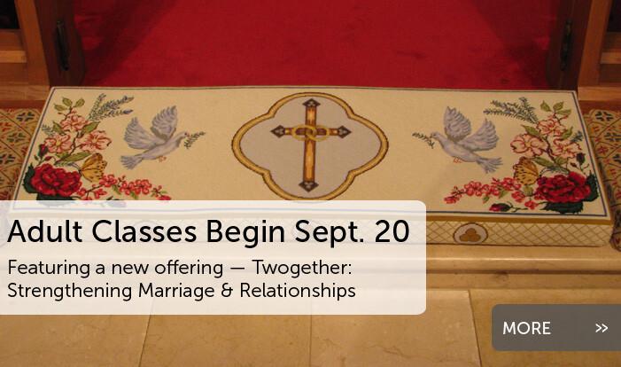 Adult Classes Begin Sept. 20