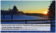 Holy Trinity closed Tuesday, December 11